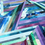 Linea 012 Purple Green Pattern Mosaic Paper Art Collage by Mari Orr || www.mariorr.com