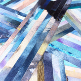 LINEA 041 Original Painted Lines Collage Mosaic Art by Chicago artist Mari Orr || www.mariorr.com
