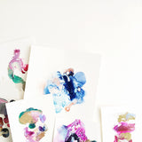 Colorful abstract paintings by artist Mari Orr! || www.mariorr.com