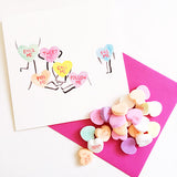 Old School Love Watercolor Candy Hearts Valentine Cute Silly Funny | Mari Orr