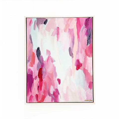 Rosalind Abstract Painting Framed 11x14 Pink Original Art by Mari Orr || www.mariorr.com