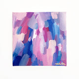 Summer Home Original Abstract Art Acrylic Painting Blue Pink by Mari Orr || www.mariorr.com