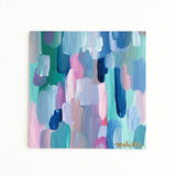 Well Manicured Colorful Original Abstract Painting Fresh Spring Art by Mari Orr || www.mariorr.com