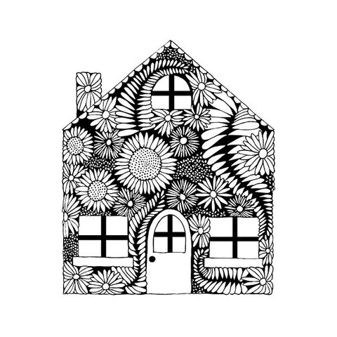 Flower Fern House<br>Archival Print - Mari Orr  - 2