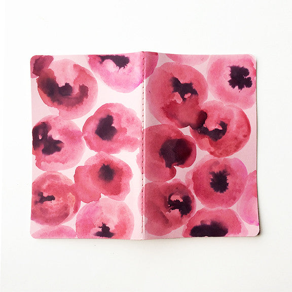 Pink Poppies Hand-Painted Journal - Mari Orr  - 2