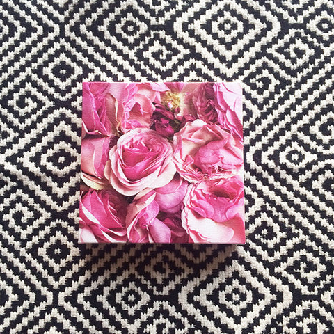 Faded Beauty<br>Pink Roses Canvas Print - Mari Orr  - 1
