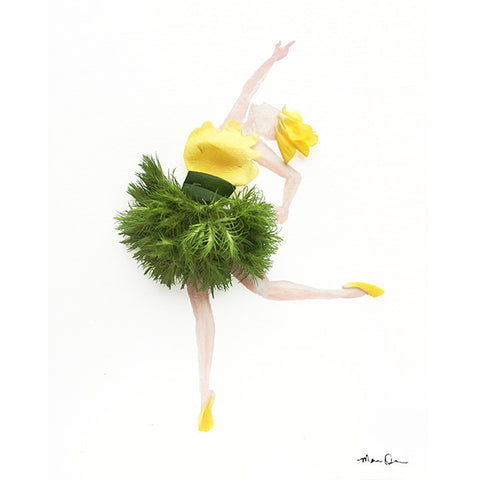 Ballerina Dancer from Phlox, Ranunculus, Rose Petals and Leaves by Mari Orr