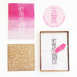 Kind Notes, set of 6 (DONATION) - Mari Orr  - 2