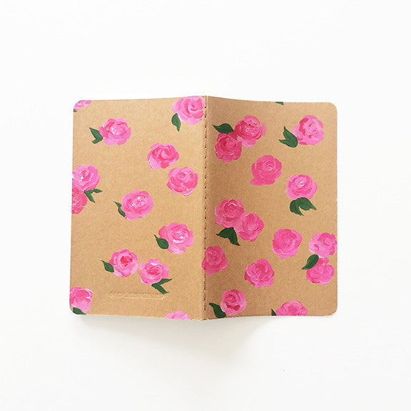 Dreamy Pink Roses Hand-Painted Journal - Mari Orr  - 2