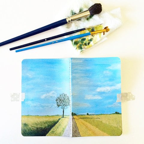 Same Tree, Same Road, Different Day Hand-Painted Journal - Mari Orr  - 1