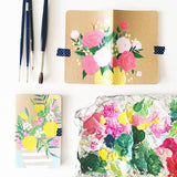 Spring Bouquet 01 Hand-Painted Journal - Mari Orr  - 1