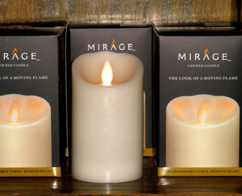 Mirage Pillar LED Wax Candle with Timer