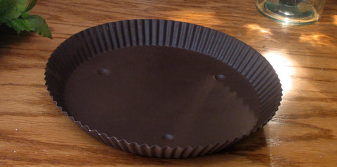 "10"" Rustic Round Metal Candle Pan"