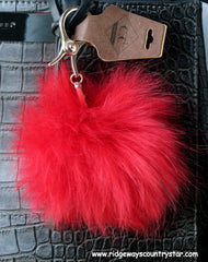 C. C Exclusive Fox Fur Pom Pom Keychain
