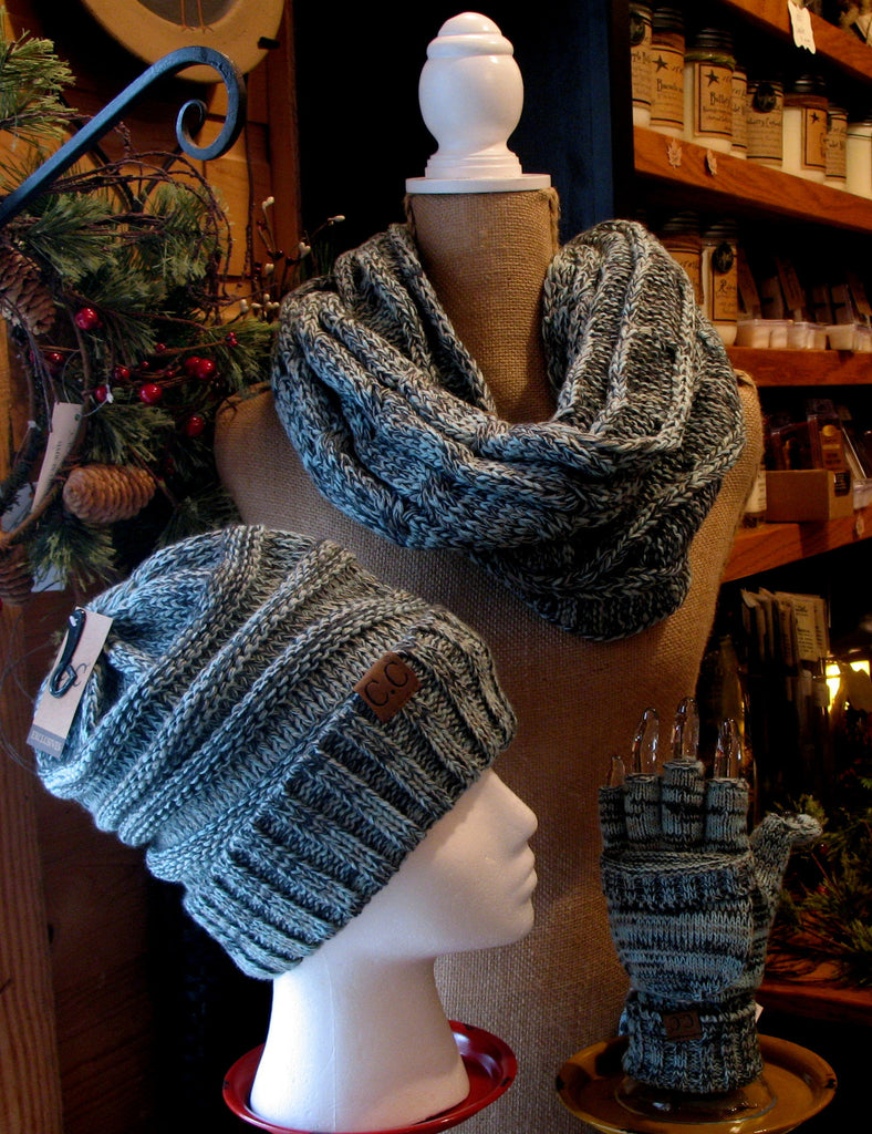 Knit Ribbed Hat Multi Color