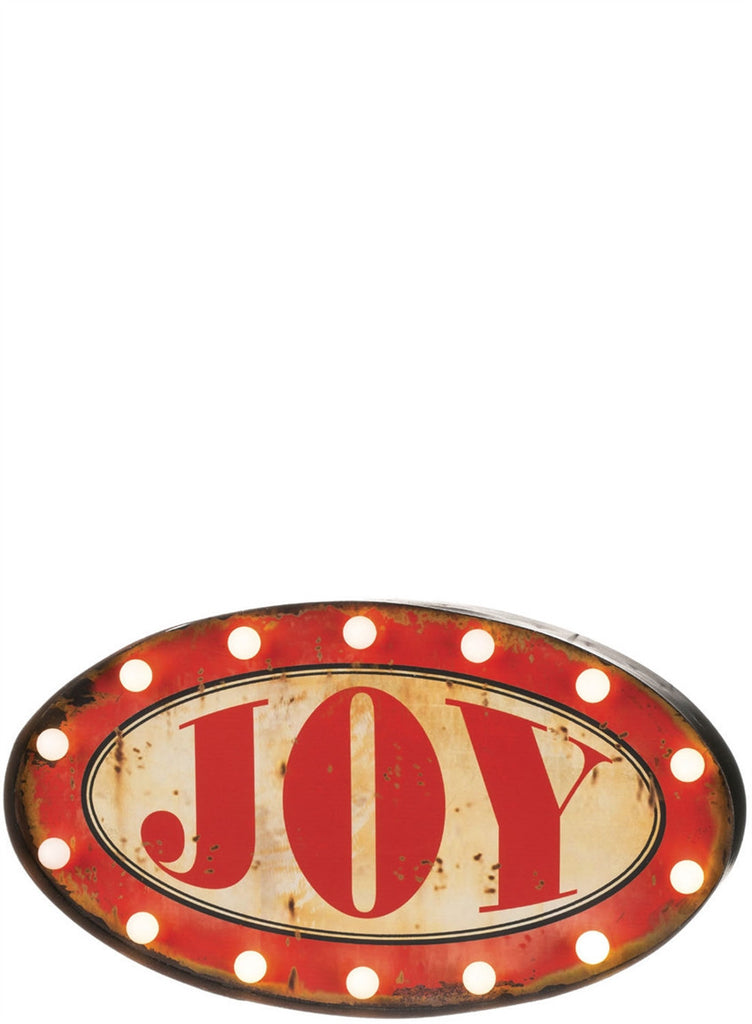 Lighted Joy Marquee Sign