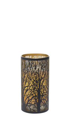 Indoor/Outdoor Laser Cut Tree Luminary w/ Timer