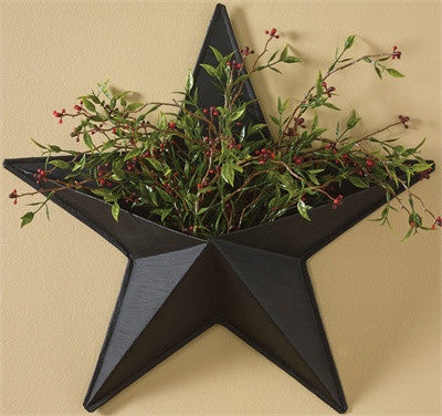 Black Iron Star Wall Pocket