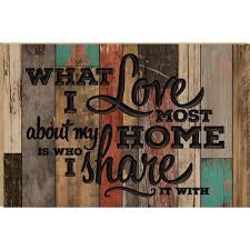 """What I love Most"" Barn Board Wall Hanging"