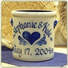Personalized 1/2 Gallon Crock with Heart Design