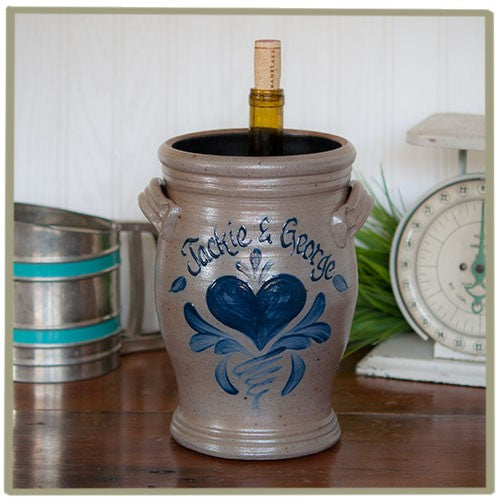 Personalized Rowe Pottery Wine Cooler with Star Design