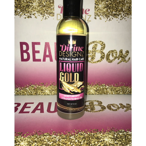 Liquid Gold Straightening Oil - Divine Designz Cosmetics