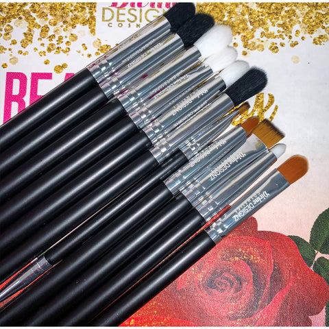 11 PCS Blend Like A Pro Brush Set - Divine Designz Cosmetics