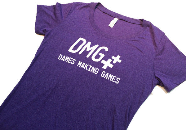 Dames Making Games Logo Tee (Lavender Triblend)