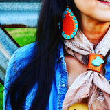 The Tejas leather earrings