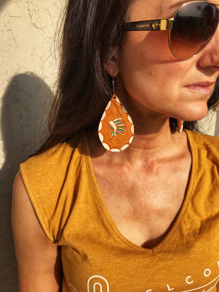 The Chief leather earrings