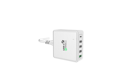 Charging Station USB Type C Charger Fastest Charging Technology QC 3.0 + USB PD 40W by Boom & Tech® - Boom&Tech®