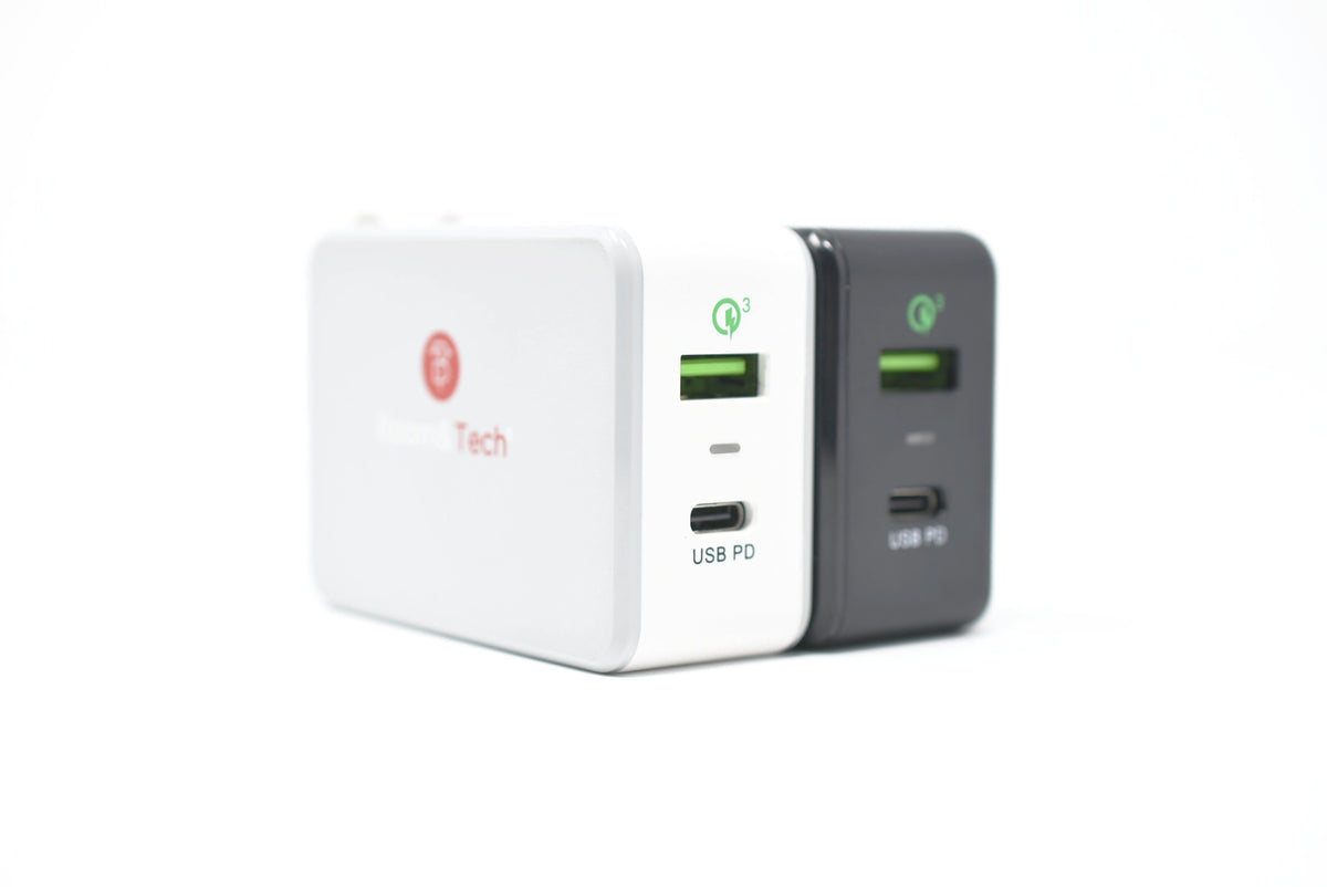 Boom&Tech® 40W Type C Power Delivery & Quick Charge 3.0 Fast Charger for Apple iPhone X/8 Plus/8, iPad, MacBook, Nexus, Samsung, Nintendo Switch & more - Boom&Tech®