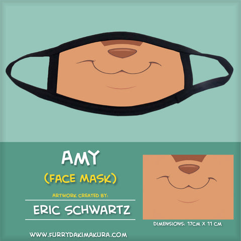 Amy the Squirrel Face Mask by EWS