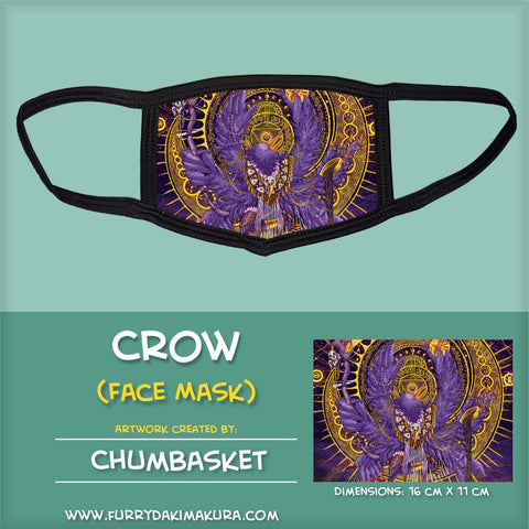 Crow Face Mask by Chumbasket