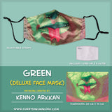 Green Face Mask by Kenno Arkkan