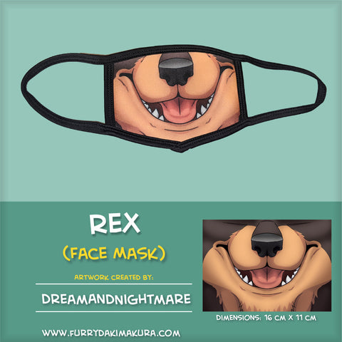 Rex Doby Face Mask by DreamAndNightmare