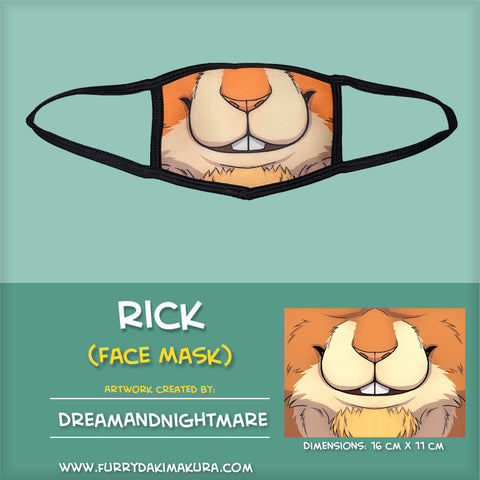 Rick Bunny Face Mask by DreamAndNightmare