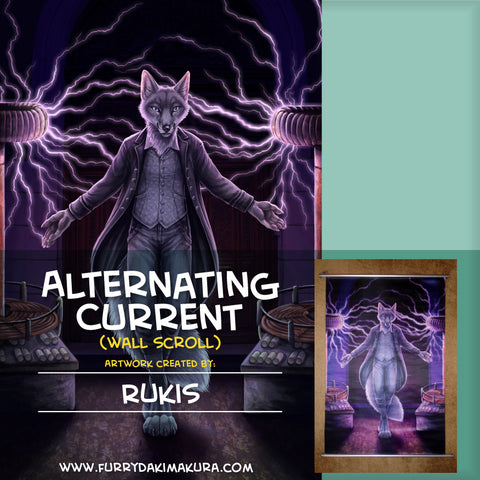 Alternating Current Wall Scroll by Rukis