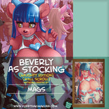 Beverly as Stocking Wall Scroll by Mags