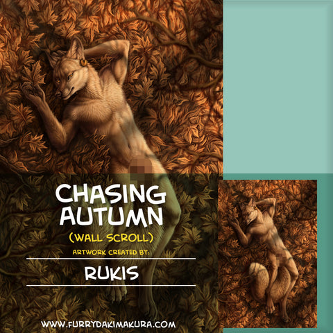 Chasing Autumn Wall Scroll by Rukis