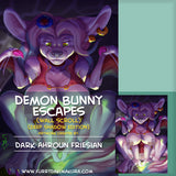 Demon Bunny Escapes by Dark Ahroun Friesian