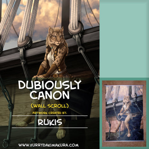 Dubiously Canon Wall Scroll by Rukis