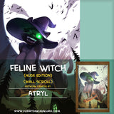 Feline Witch Wall Scroll by Atryl