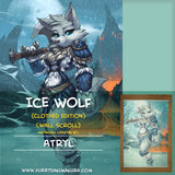 Ice Wolf Wall Scroll by Atryl