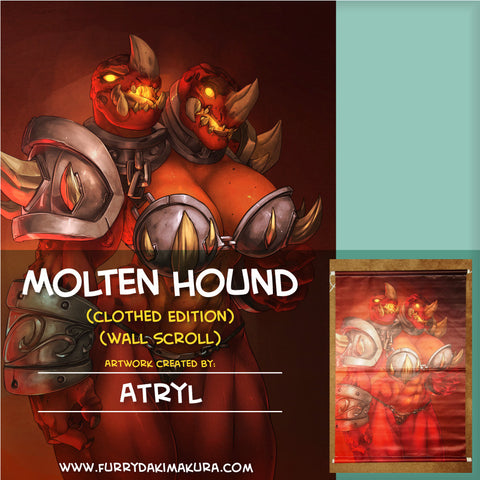 Molten Hound Wall Scroll by Atryl