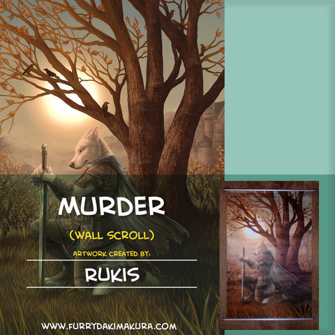 Murder Wall Scroll by Rukis