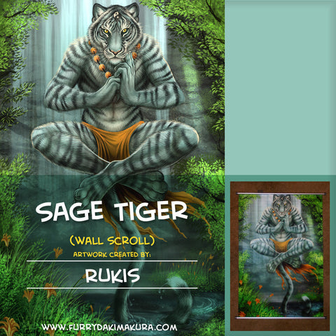 Sage Tiger Wall Scroll by Rukis