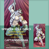Spencer Poledance Wallscroll by CaptainGerBear