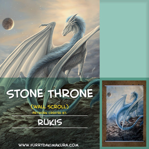 Stone Throne Wall Scroll by Rukis
