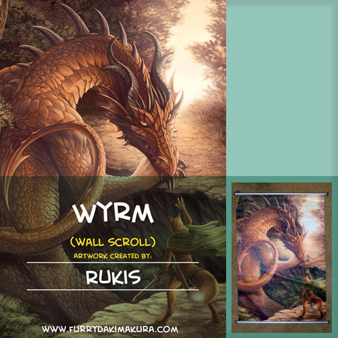 Wyrm Wall Scroll by Rukis